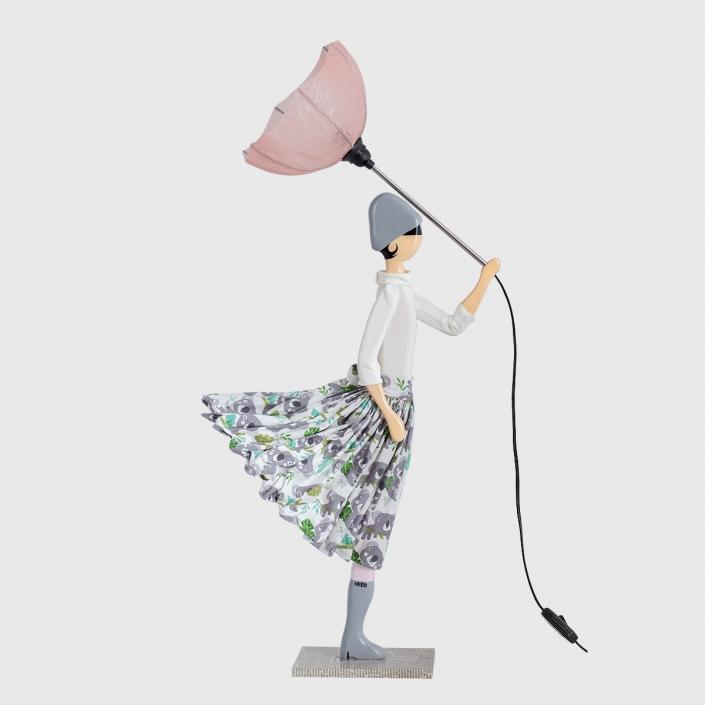 Szara lampka dekoracyjna dla dzieci