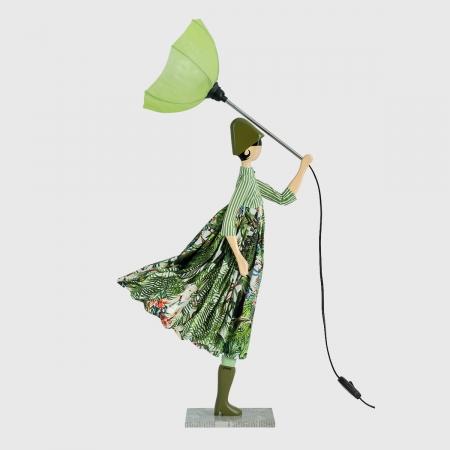 Zielona lampka dziewczynka Skitso