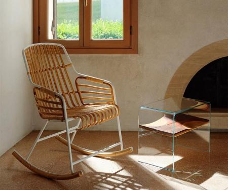 Rattanowe krzesło Raphia Rocking