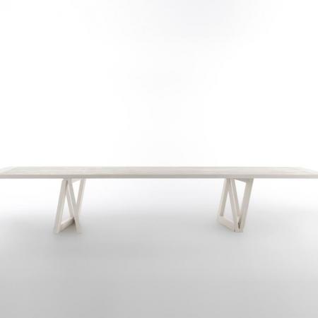 Stół z drewnianym blatem Quadror 03