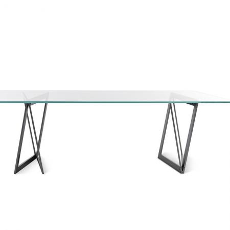 Stół ze szklanym blatem Quadror 02