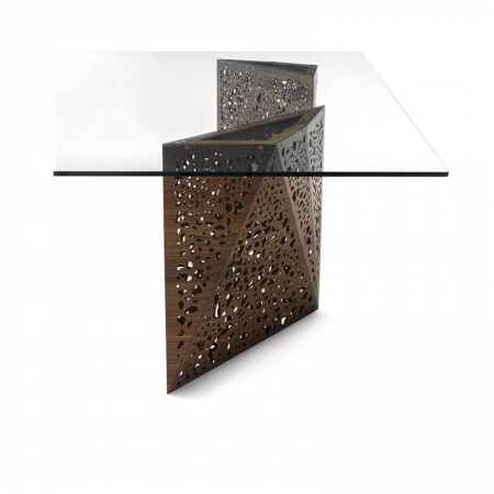 Stół ze szklanym blatem Riddled Tavolo 2