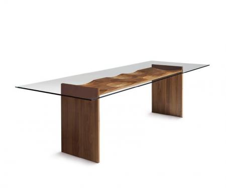 Stół ze szklanym blatem Ripples Tavolo HORM