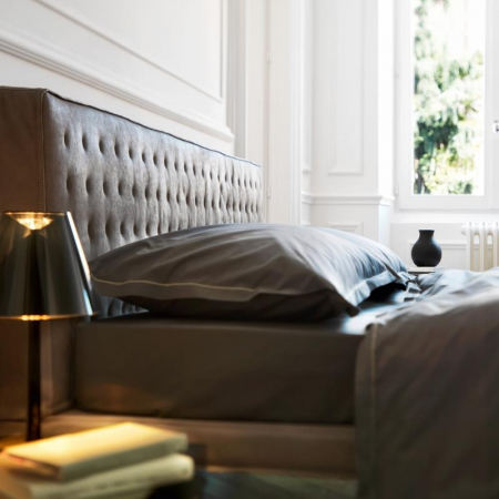Łóżko tapicerowane Ebridi Legno Trapuntato