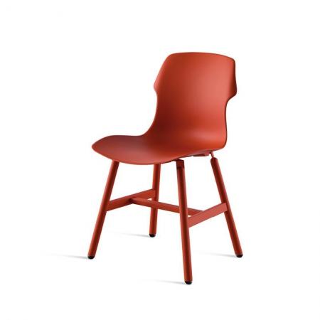 Minimalistyczne krzesło Stereo Metal Polipropilene