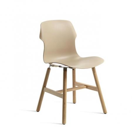 Nowoczesne krzesło Stereo Wood Imbottita Fronte Retro