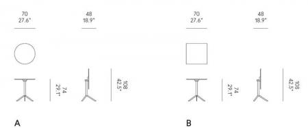 Nowoczesny stolik T4 Bistrot Quadrato