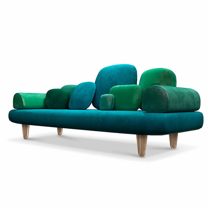 Forest sofa green