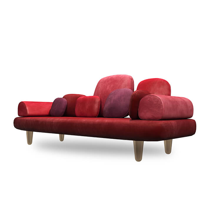 Forest sofa red